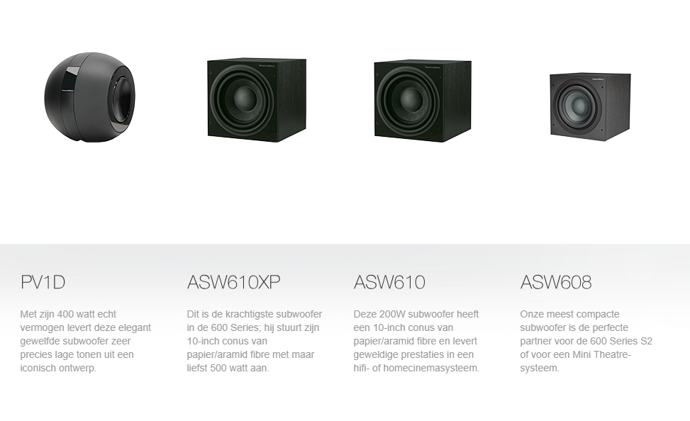 Home theatre subwoofers B&W