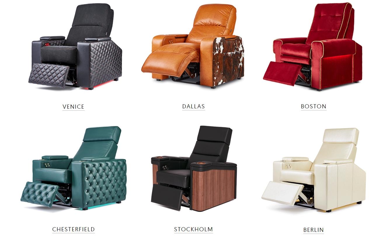Moovia tuisbioscoop stoelen